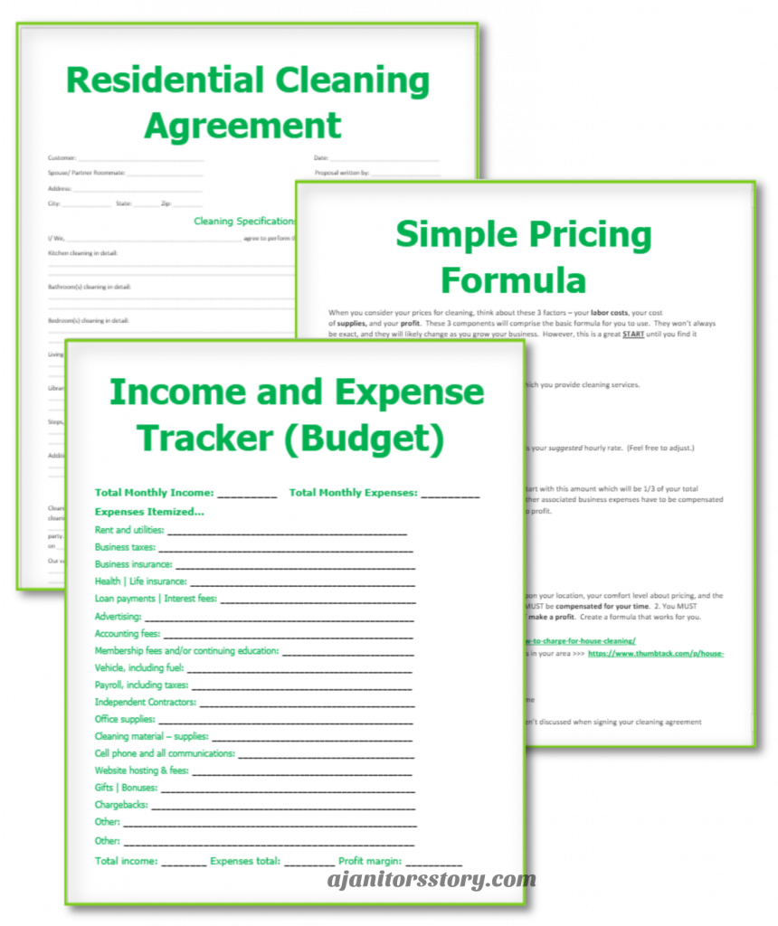 3 house cleaning business forms