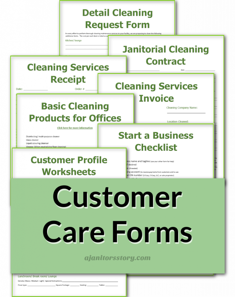 customer service forms for ofc cleaning businesses