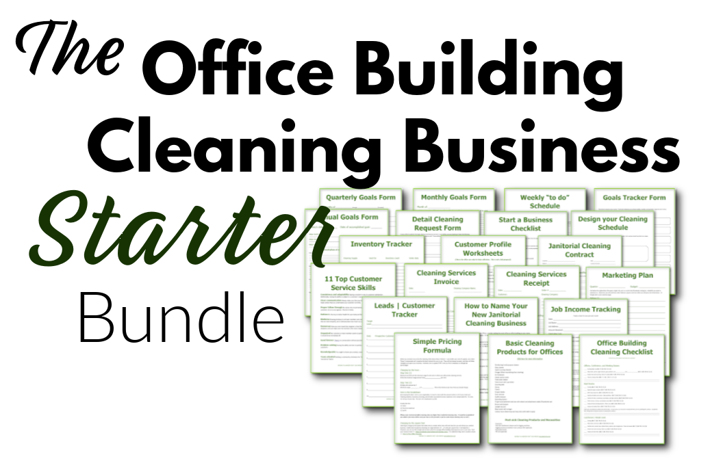 logo with cleaning business forms for office cleaners