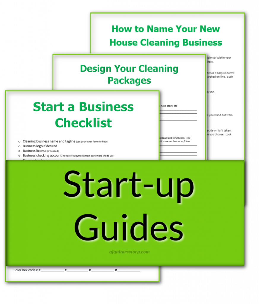 """green and white """"start up"""" printables"""