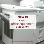 how to clean office equipment. large copier in office.