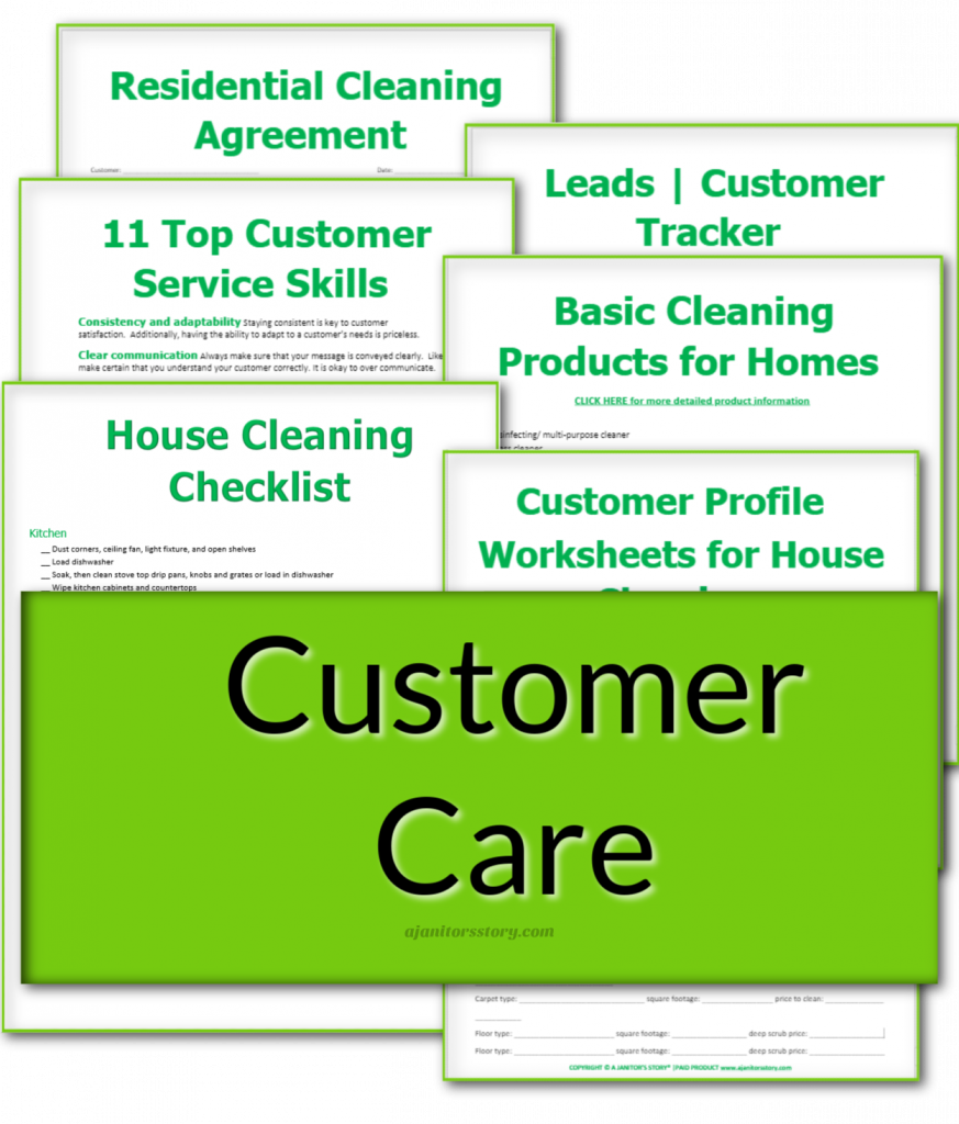 6 customer care forms for cleaning service businesses