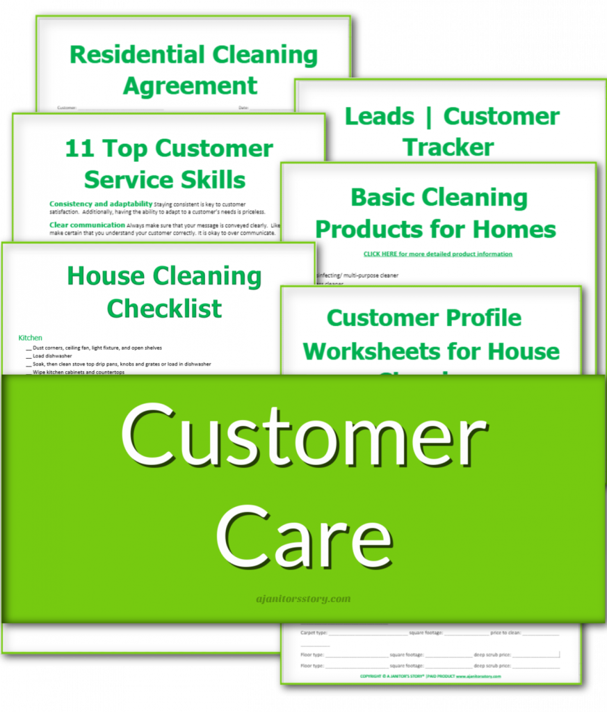 customer service forms in a bundle for house cleaning biz
