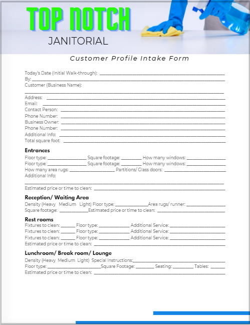 customixed office client form