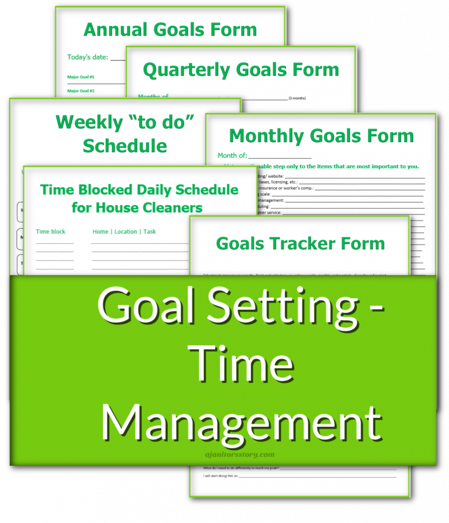 Goals and planning forms for a house keeping business in a bundle