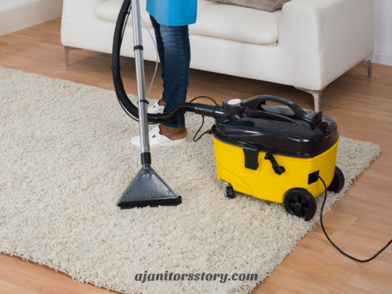 Cleaning carpet with a yellow cleaning machine can be a part of creating a house cleaning pricing guide. Learn how to profit from every cleaning job by charging the right amount… especially on the initial cleaning! FREE Printable!! residential house cleaning business | residential maid services | cleaning business tips #ajanitorsstory #cleaningbusiness #professionalhousecleaning