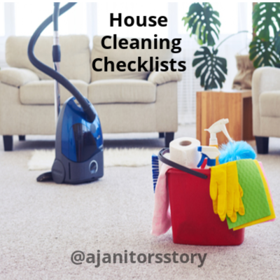 Cleaning checklists for homes