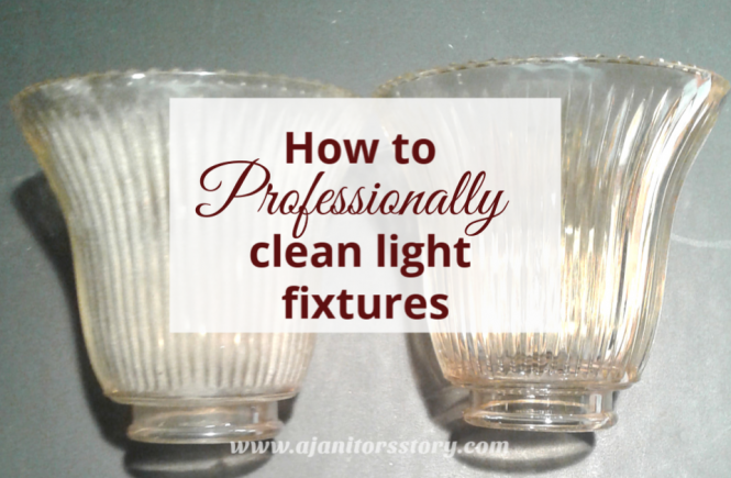 How to clean light fixtures. once clean fixture next to one dirty fixture