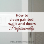 How to clean painted walls and doors. Picture of light switch and white closet door in background