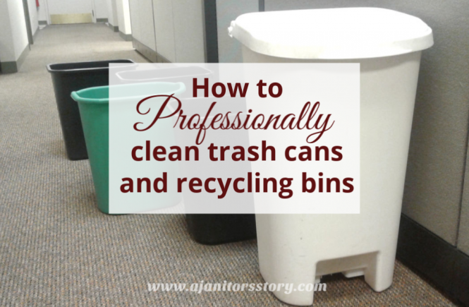 how to clean trash cans and recycling bins