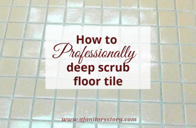 How to deep scrub tiled floors. shiny beige ceramic tiled floors