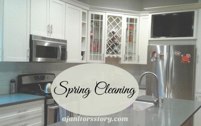 This is how to spring clean kitchens. beautiful open concept kitchen with stainless steel appliances and white cabinets