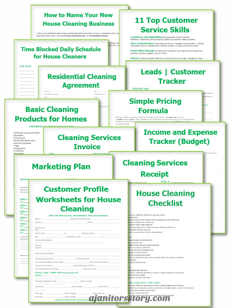 13 cleaning business forms