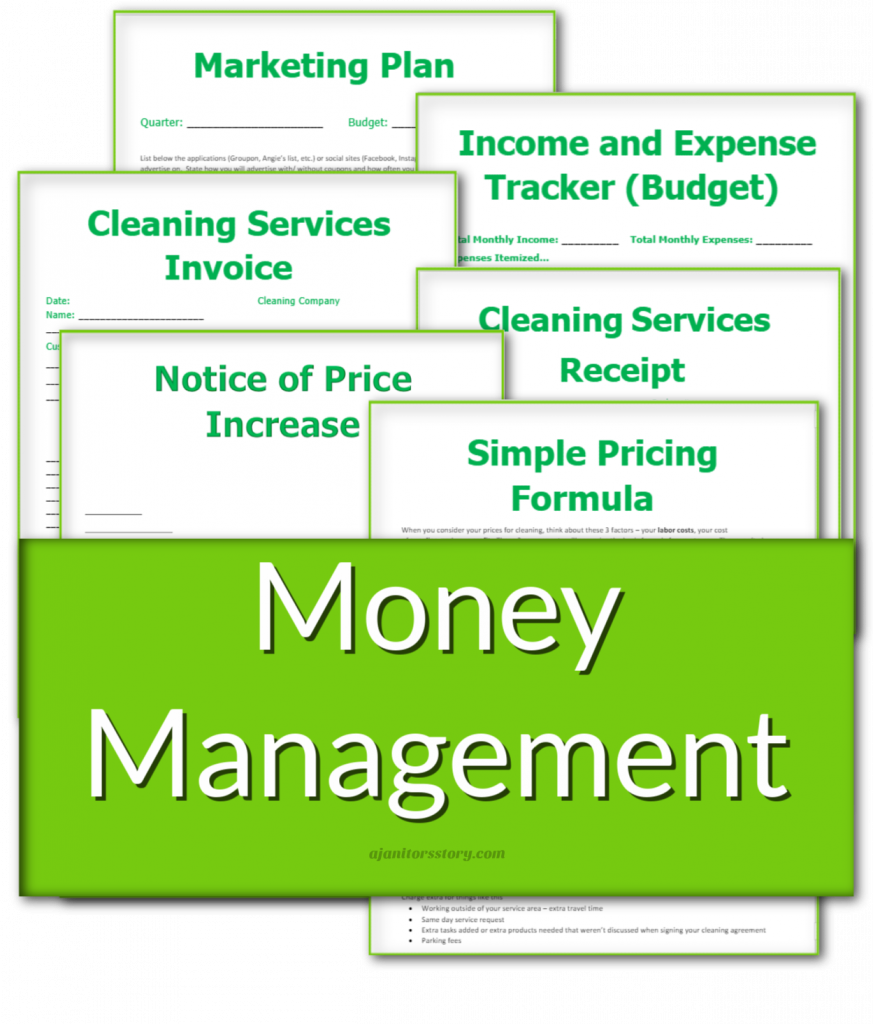 Managing finances business forms for housekeeping businesses