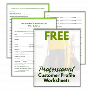 4 sheets for professional cleaning biz