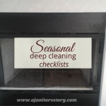 professional deep cleaning checklists. Dirty fireplace.