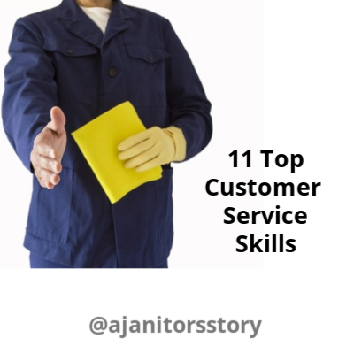 Customer service rep. Cleaning customer service skills