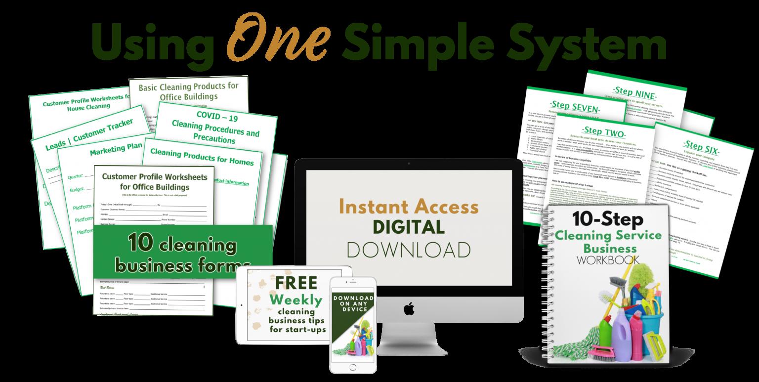 printables, computer mockup and spiral workbook