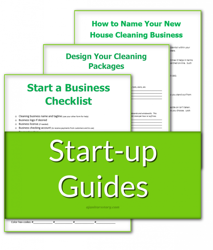 picture of cleaning forms for starting a house cleaning business