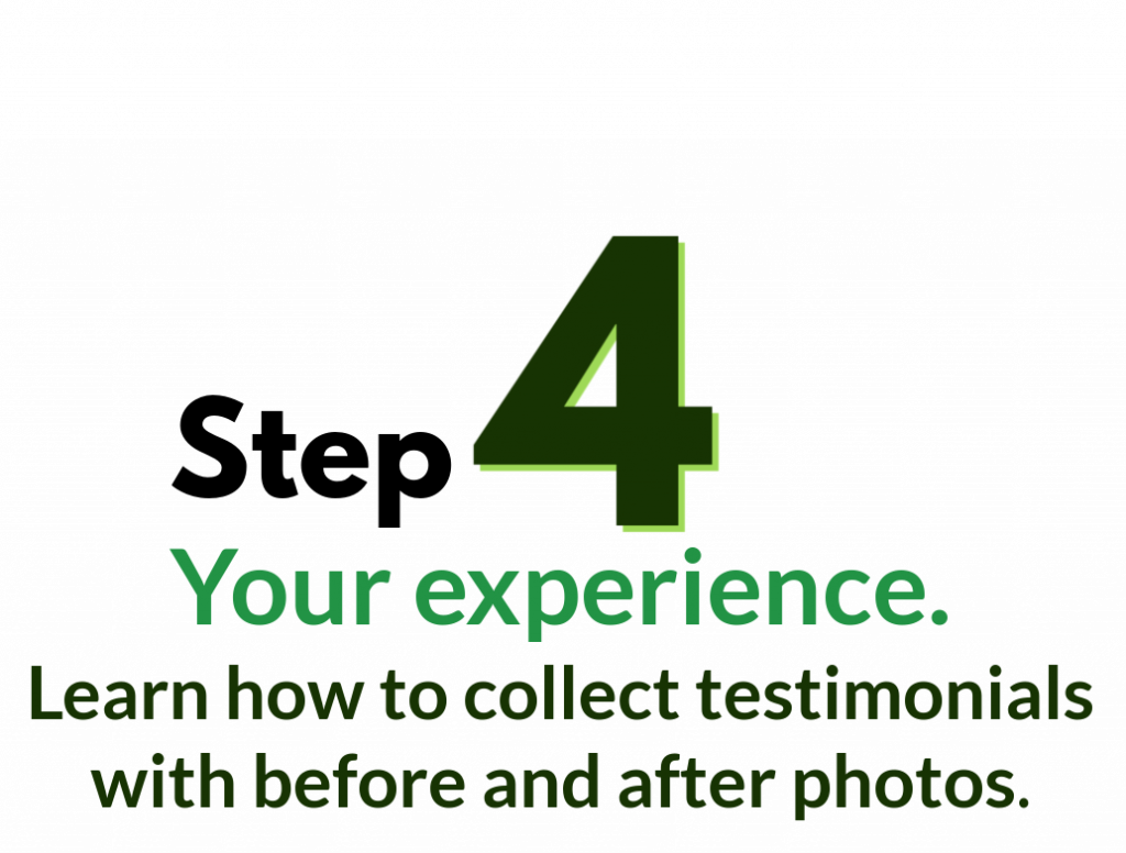 Step 4, experience, from cleaning service workbok